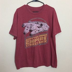 "Star Wars Red ""The Empire Strikes Back"" T-Shirt."